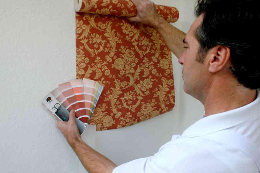 Farbabstimmung Tapete und Wand