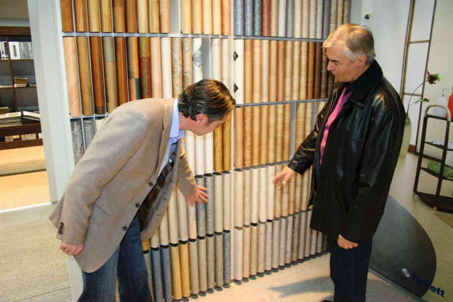 Fußbodenmuster Ausstellung Ruhe & Co.