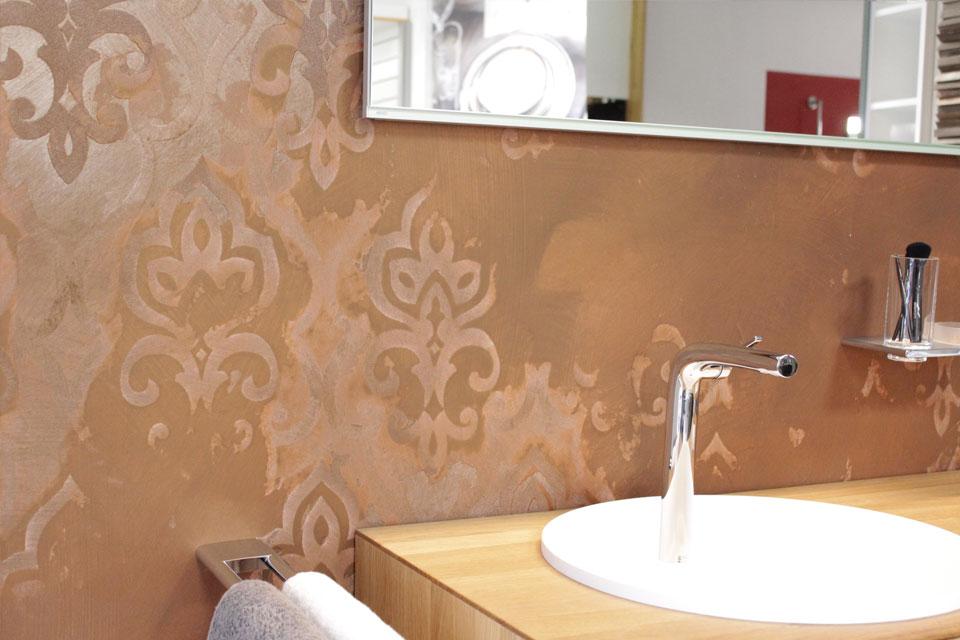 Strukturspachtel auf Tapete – Vintage Look – individuelle Wandgestaltung - © Malerfachbetreib Reinsch