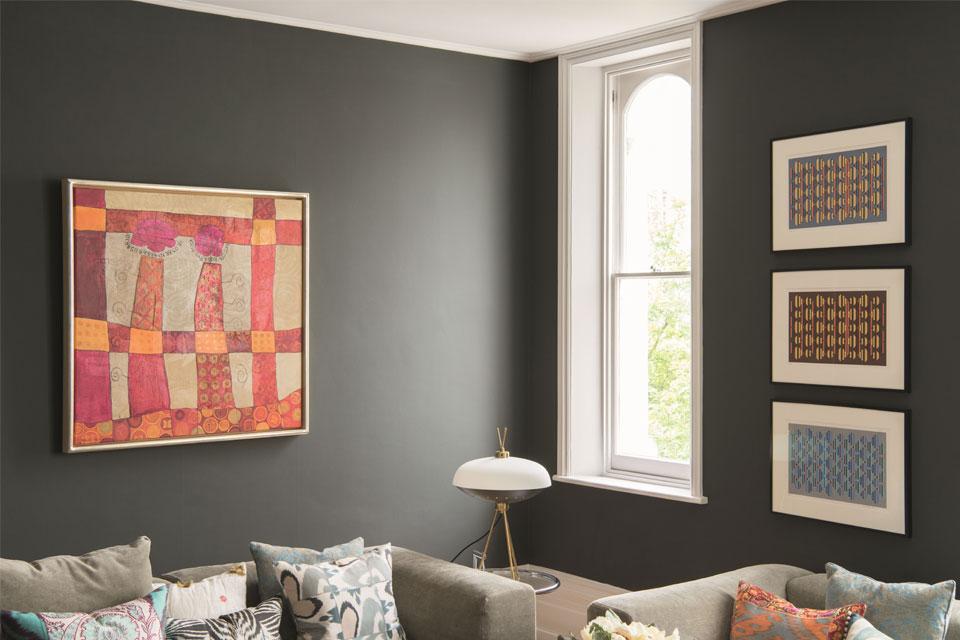 Elegante Wandfarben, klassische Wandfarben, Kombination von Farbnuancen - Caparol Icons