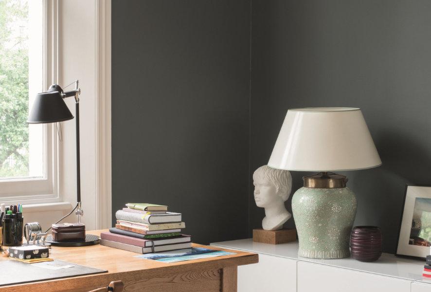 Arbeitsplatz mit grauer Farbgebung - Caparol Icons
