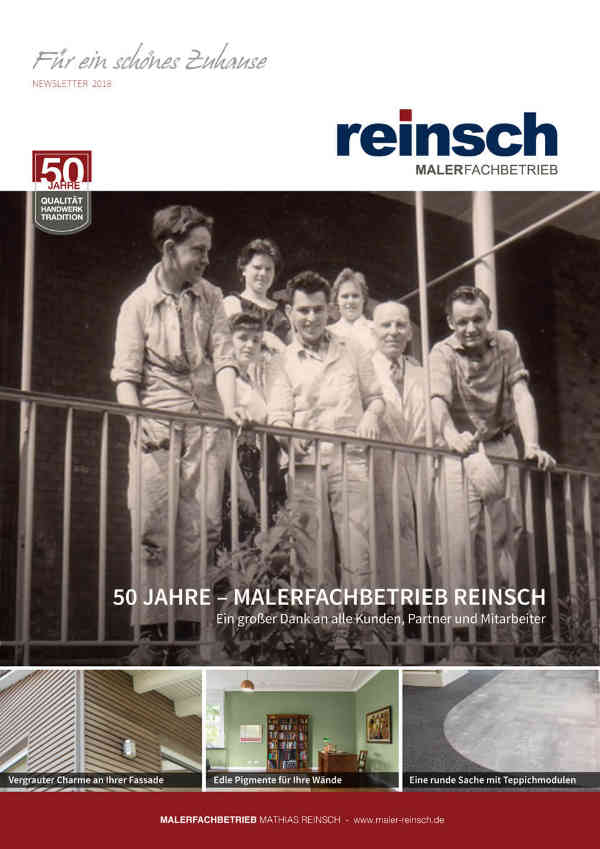Malerfachbetrieb Mathias Reinsch - Newsletter 2018