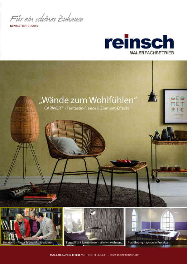 Malerfachbetrieb Mathias Reinsch - Newsletter 2015