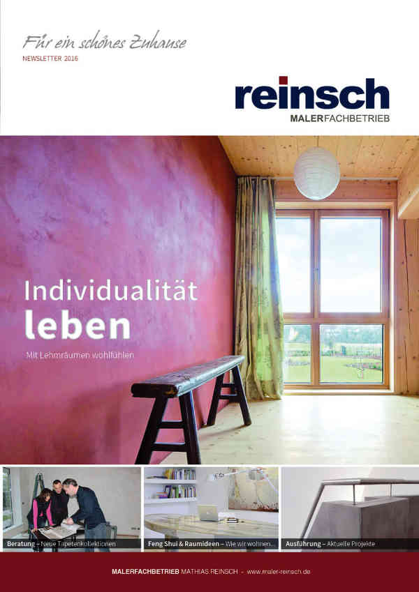 Malerfachbetrieb Mathias Reinsch - Newsletter 2016