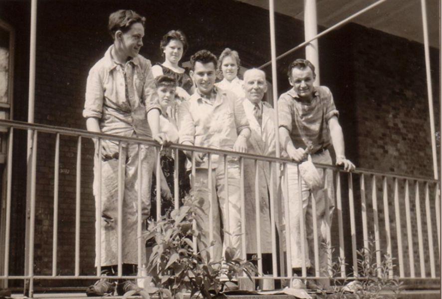 Mitarbeiter der Firma Reinsch in den 60er Jahren